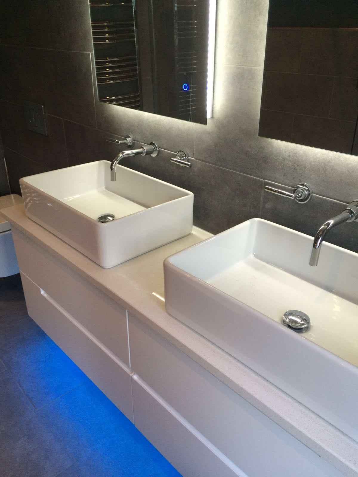 How much to fit a new bathroom - Including The Supply Fit Of New Stud Walls New Soil New Plumbing New Electrics Under Floor Heating Plastering Wall Tiling Floor Tiling